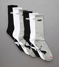PUMA® Men's 6-Pack Athletic Crew Socks