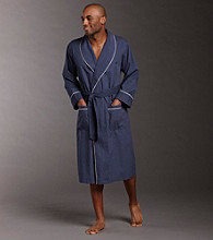 Nautica® Men's Lapel Trim Pin Dot Robe - Peacoat