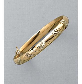 Auragento® 14K Gold & Sterling Silver Bangle Bracelet