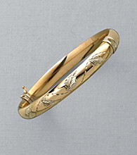Auragento® 14K Gold & Sterling Silver Bangle Bracelet