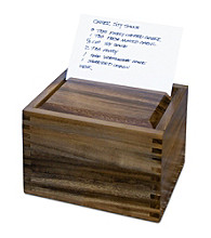 Fox Run Craftsmen® Secret Recipe Box