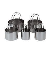Fox Run Craftsmen® of 5 Stainless Steel Cookie Cutters