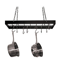 Fox Run Craftsmen® Black Rectangular Hanging Pot Rack