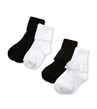 Miss Attitude Girls' Black Lace Socks