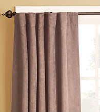 Soft Suede Rod Pocket Drapes by Sure Fit®