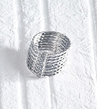 .14 ct. t.w. Diamond Sterling Silver Circles Band Ring