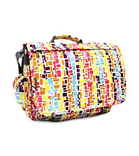 J World Laptop Messenger in Squares Neon