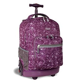 """J World 18"""" Rolling Backpack in Love Purple"""