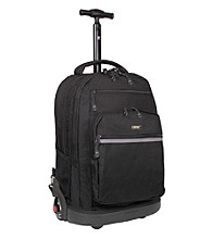 J World 19.5 inch Rolling Backpack with Laptop Sleeve in Black