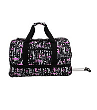 J World Single Handle Rolling Duffel in Touches Pink