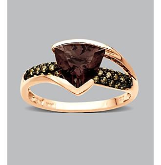10K Rose Gold Smoky Quartz Ring