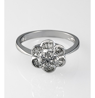 Effy® Diamond Ring in White Gold - 0.32 ct. t.w.