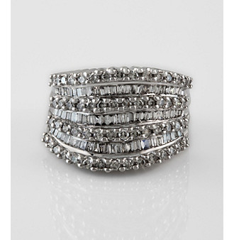 Effy 14K White Gold Diamond Ring-DIAMOND-7