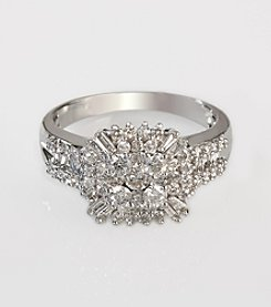 Effy® Classique Collection Diamond Ring in White Gold - 1.0 ct. t.w.