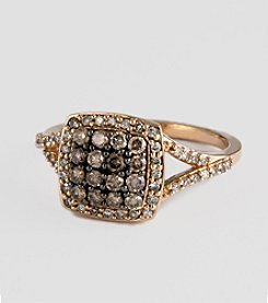 Effy® Brown & White Diamond Ring in Rose Gold - 0.60 ct. t.w.