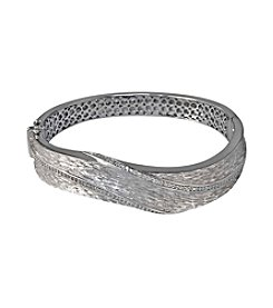 Effy® Sterling Silver .36 ct. t.w. Diamond Swirl Bangle Bracelet