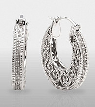 .10 ct. t.w. Diamond Filigree Earrings