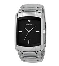 Fossil® Men's Analog Black Dial Diamond Watch