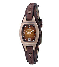 Fossil® Analog Brown Dial Watch