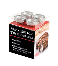 Charcoal Companion® Set of 4 Steak Button® Thermometers