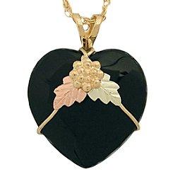 Black Hills Gold 10K Onyx Heart Pendant