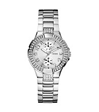Guess Mini Prism Silvertone Multifunction Watch
