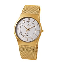 Skagen Denmark Men's Gold Mesh Watch