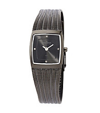 Skagen Denmark Striped Mesh Watch - Charcoal