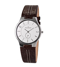 Skagen Denmark Men's Brown Leather Watch