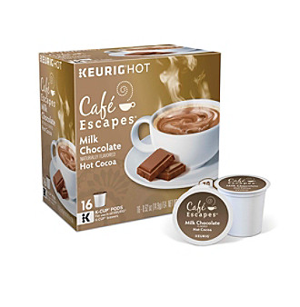 Café Escapes® Milk Chocolate Hot Cocoa 16-pk. K-Cup® Portion Pack