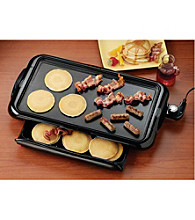 Nostalgia Electrics® Non-Stick Griddle with Warming Drawer