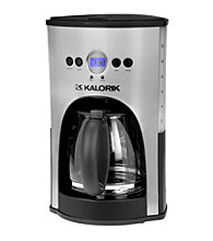 Kalorik 12-Cup Capacity Programmable Coffee Maker - Stainless Steel and Black