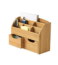 Lipper International Space Saving Desk Organizer - Bamboo