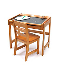 Lipper International 2-pc. Children's Chalkboard-top Desk & Chair Set - Pecan