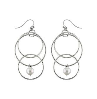 .925 Sterling Silver 8.5-9mm Freshwater Pearl Earrings - White