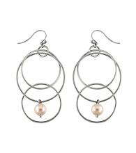 .925 Sterling Silver 8.5-9mm Freshwater Pearl Earrings - Natural