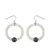 .925 Sterling Silver 3.5-8.5mm Freshwater Pearl Earrings - White/Black