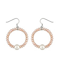 .925 Sterling Silver 3.5-8.5mm Freshwater Pearl Earrings - Natural/White