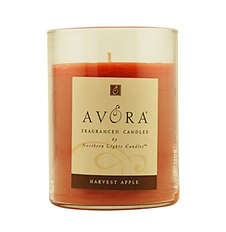 """Fragrance Net 3""""x4.5"""" Glass Pillar Scented Candle"""