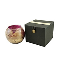 Fragrance Net 4 inch Candle Globe - Amethyst/Gold