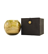 Fragrance Net 4 inch Candle Globe - Olive/Gold