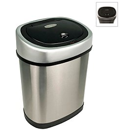 Nine Stars Infrared Touchless Automatic 3.2-Gallon Trash Can - Stainless