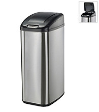 Nine Stars Infrared Touchless Automatic 13.2-Gallon Trash Can - Stainless