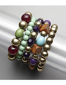 Erica Lyons Five-Row Stretch Bracelet - Multi                 	   	   			 - Younkers