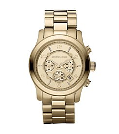 Michael Kors® Men's Oversized Goldtone Stainless Steel Oversized Runway Chronograph Watch