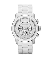 Michael Kors® Men's Oversized Wrapped Chronograph Watch - White