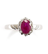 1.0 ct. t.w. Ruby & Diamond Accent Sterling Silver Ring