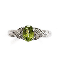 .75 ct. t.w. Peridot & Diamond Accent Sterling Silver Ring
