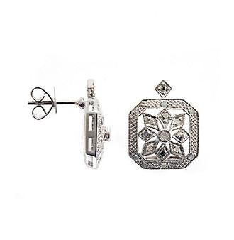 .20 ct. t.w. Diamond Sterling Silver Earrings