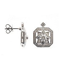 .20 ct. t.w. Diamond Sterling Silver Earrings